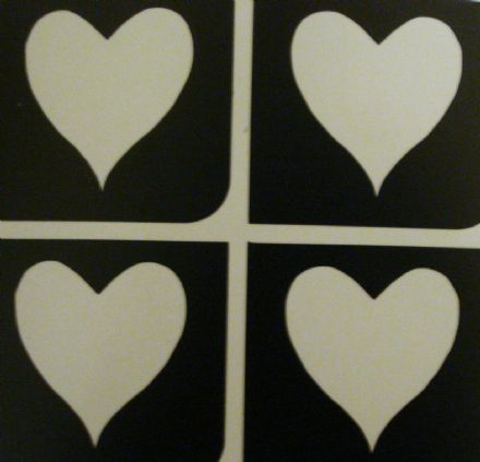 5 SHEETS OF 4 STENCILS - MINI HEART